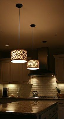 diy fabric covered kitchen pendant lights for the home
