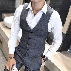 Wedding Suits – Ed Clarke – Magician Dress Suits For Men, Men Dress, Gilet Costume, Blazer Outfits Men, Mens Fashion Suits, Fashion Outfits, Well Dressed Men, Gentleman Style, Wedding Suits