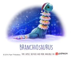 Daily Paint 1474. Branchiosaurus by Cryptid-Creations.deviantart.com on @DeviantArt