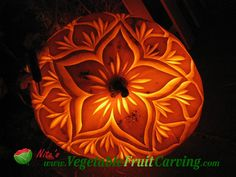 Floral pumpkin carving patterns | Pumpkin carving - pretty pumpkin flower