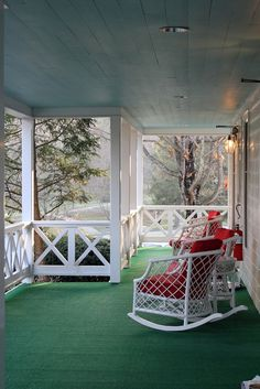 mornings on the porch at the greenbrier resort - white sulphur springs, west virginia.