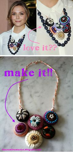 DIY tutorial for Elizabeth Olsen's chunky necklace