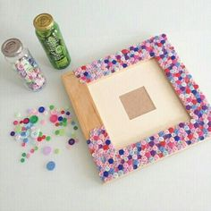 40 Beautiful DIY Photo Frame Ideas to Use in Special Moments – Bored Art - diy kids crafts Cadre Photo Diy, Cadre Diy, Diy Photo, Kids Crafts, Diy Home Crafts, Craft Stick Crafts, Jar Crafts, Sewing Crafts, Photo Frame Decoration