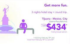 Avión+hotel de Tijuana a México D.F.