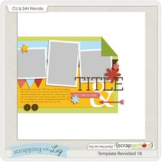Scrapbooking TammyTags -- TT - Designer - Scrappin with Liz, TT- Item - Template