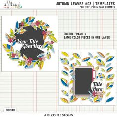 Autumn Leaves 02 | Templates by Akizo Designs - for Digital Scrapbooking Layout