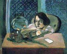 Woman Before a Fish Bowl, Henri Matisse