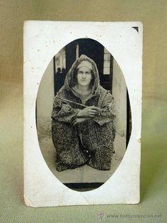 POST CARD, FOTO, RETRATO, EN MARRUECOS, TETUAN, 1932, 13 X 9 CM - Foto 1