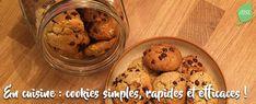 Recette de cookies sans beurre et version végétale Cookies Et Biscuits, Cereal, Favorite Recipes, Breakfast, Slow, Desserts, Index, Butter Recipe, Almond Milk