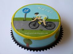Bicycle Race on Cake Central Bike Birthday Parties, 65th Birthday, Birthday Cake, Bicycle Cake, Sport Cakes, Cake Central, Mini Cakes, Cake Cookies, Cake Decorating