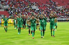 Falcons Through To Semi-Finals After Spanking Kenya     The Super Falcons of Nigeria booked their place in the semi-finals of this years Africa Womens Cup of Nations in Cameroon following their 4-0 win against Kenya in Group B on Saturday.  Goals from Ngozi Okobi Faith Ikidi Asisat Oshoala and substitute Desire Oparanozie secured the comfortable win for the reigning AWCON champions. It was the Falcons second win of the tournament after initially beating Mali 6-0 before drawing 1-1 with Ghana…