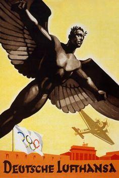 #LUFTHANSA,#POSTER,#VINTAGE,#OLIMPIC GAMES-