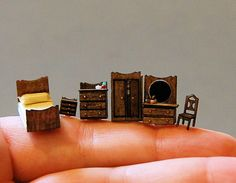 1/144th inch scale miniatureClassic Bedroom by sdkminiatures, $51.00