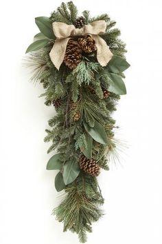 Burlap and Pine Teardrop Swag - beautiful!
