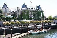 Lower Walkway on the Inner Harbour  and Victoria Empress Hotel