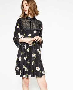3673039f044 This elegant dress with mid-length sleeves dress is designed in lightweight  silk crepe and mixes styles to create a chic look with a baroque twist.