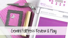 Gemini FoilPress - Review & Play | The Card Grotto - YouTube Crafters Companion Gemini, Deco Foil, Simon Says Stamp, Creative Crafts, Homemade Gifts, Home Crafts, Card Making, Paper Crafts, Make It Yourself