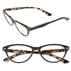 Corinne McCormack 'Kaylee' 53mm Reading Glasses ($62) ❤ liked on Polyvore featuring accessories, eyewear, eyeglasses, grey, lightweight eyeglasses, lightweight reading glasses, acetate glasses, reading glasses and reading eye glasses