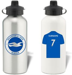 Keep yourself hydrated in style with your own personalised Brighton & Hove Albion FC water bottle.