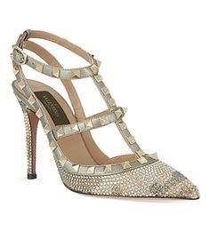 VALENTINO Embellished t-bar courts (Metal comb). Saw these babies on display at the Marvel Room in B.T's. Pretty amazes...
