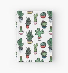 Cactus and succulents with flowers, spines and without. Cactus isolated on white background. Notebook Cover Design, Diy Notebook, Notebook Covers, Journal Covers, Cute Journals, Cute Notebooks, Turtle Facts, Cute Stationery, Stationary