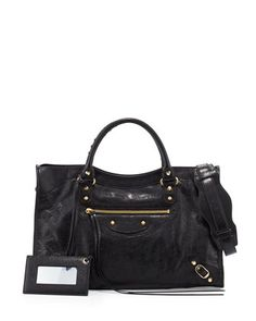 1e29004e89c Shop Classic City Golden Lambskin Satchel Bag from Balenciaga at Neiman  Marcus Last Call, where you ll save as much as on designer fashions.