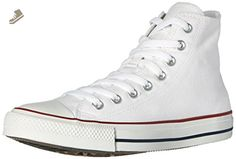 Converse Unisex Chuck Taylor All Star High Top Sneakers Optical White, mens 5, womens 7 - Converse chucks for women (*Amazon Partner-Link)