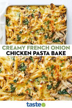 Baked Chicken Pasta Recipes, Easy Chicken Dinner Recipes, Easy Pasta Recipes, Easy Meals, Cooking Recipes, Easy Chicken Pasta Bake, Dinner Ideas With Chicken, Yummy Dinner Recipes, Chicken Dishes For Dinner