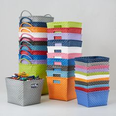 Kids' Storage Containers: Kids Colorful Woven Storage Collection | The Land of Nod
