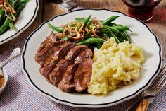 Seared Steaks & Thyme Pan Sauce