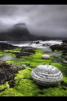 Isle of Skye, Scotland. Reminds me of a Water horse egg...just recently watched the movie with my grandchildren and they loved it!