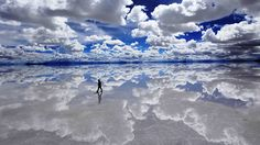 The collection includes the largest salt flat in the world, Salar de Uyuni, that is dry for most of the year, but is covered by a this layer of water during the rainy season (usually November-March). Description from seniorcitizen.travel. I searched for this on bing.com/images