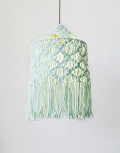 Lights Out Shade design by Wool and the Gang Macrame Kit with Plumen light
