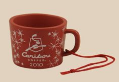 2010 Caribou Coffee Red Mug Ornament
