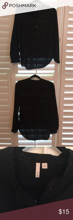 Classic Black Blouse! Classic black blouse by brand Frenchi. Purchased at Nordstrom and dry-cleaned. It dips lower in the back so perfect for tucking in. 97% poly, 3% spandex. Frenchi Tops Blouses