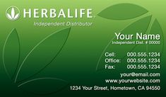 Herbalife Business Cards. Herbalife Agents. Templates plus free Set–up.