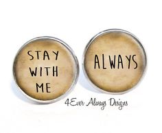 Stay With Me Always Earrings by 4EverAlwaysDesigns on Etsy