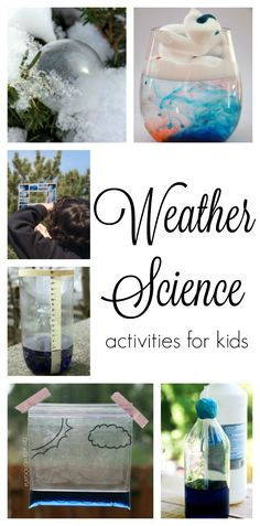 Weather Experiments, Weather Science, Summer Science, Science Experiments Kids, Science For Kids, Weather Unit, Weather For Kids, Science Education, Earth Science
