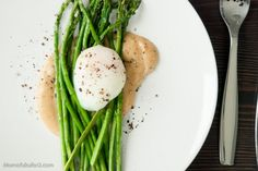 Pan-Roasted Asparagus with Egg and MISO Butter by momfukufor2: ( The secret is in the miso butter! )  #Asparagus #Miso_Butter #momfukufor2