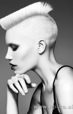 Eight Images. One Model. In our final British Hairdresser of the Year Nominee Collection, British Hairdressing Awards Hall of Fame… Lob Hairstyle, Girl Hairstyles, Female Mohawk, Flat Top Haircut, Avant Garde Hair, Bald Girl, Girl Short Hair, Hair Girls, Hair Reference