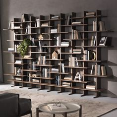 Trendy home library furniture bookcase wall Bookcase Wall, Bookshelf Design, Wall Shelves, Bookshelf Ideas, Modern Bookcase, Bookcases, Shelving, Library Furniture, Furniture Design