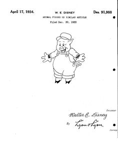 "Oct. 27, 1954 Walt Disney's 1st TV show premiered on ABC--""Disneyland"". Here is one of #WaltDisney's #designpatents."