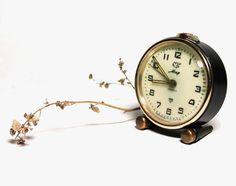 "Soviet Clock  ""Mir"" - Black Mechanical Clock - Manual winding - Soviet Union - Made in USSR on Etsy, $25.00"