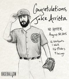 Jake Arrieta's first career no-hitter against the LA Dodgers was the 14th in Cubs history.