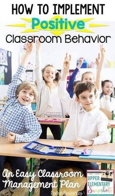 An easy classroom management plan that guides teachers on how to implement POSITIVE classroom behavior.  Ideas for positive reinforcement will ease your stress and get students participating more.  it provides a happy learning environment.