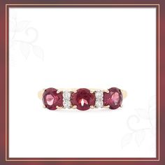 A charming Rhodolite Garnet Ring from the Trendy collection | Shipping across India