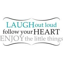 Laugh Out Loud Wall Quote - Wall Phrase Decal Kits WallPops