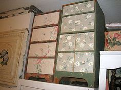 Studio cleaining 068 fabric covered drawers