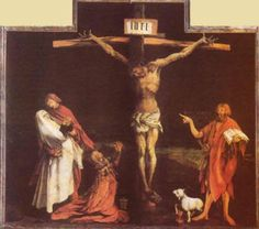 History of Art: Paintings that Changed the World Matthias Grunewald The Crucifixion c. 1515 Oil on wood, 269 x 307 cm Musee d'Unterlinden, Colmar Alberto Giacometti, Catholic Books, Catholic Priest, Georges Braque, Rembrandt, Jesus Last Supper, Georgia O'keeffe, Renaissance Kunst, Saint Jean Baptiste