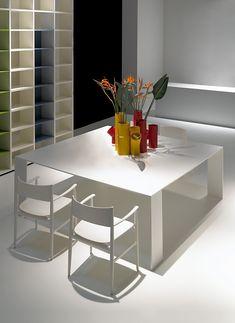 Mesa de metal METALLICO by Porro diseño Piero Lissoni